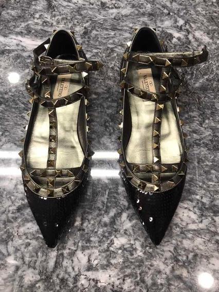 Valentino Garavani Zapatos Negros 37.5 Usado 1 Semana Origin