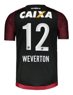 Camisa Umbro Atlético Paranaense Goleiro 2017 12 Weverton