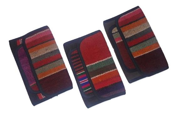 Billeteras De Aguayo Antiguo De Telar - Variedad De Colores