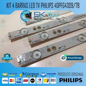 Kit 04 Barras De Led Tv Philips 40pfg4309/78 Original