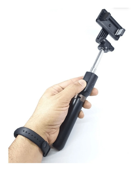 Bastão Selfie Bluetooth Recarregável + Tripé Tomate Mzp109