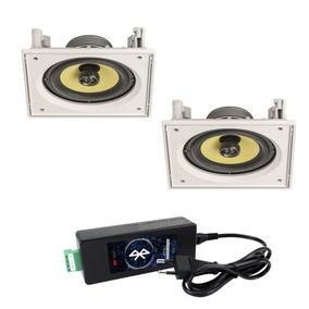 Kit Caixas De Embutir Ci6s Jbl + Amplificador Bluetooth Aat