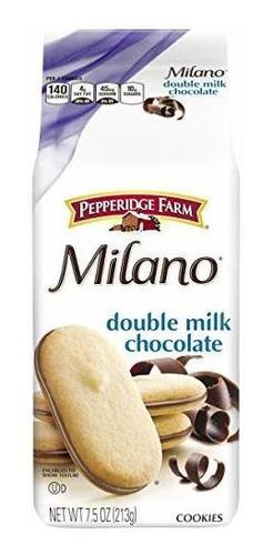 Las Cookies De Chocolate Pepperidge Farm Milano Doble Leche,