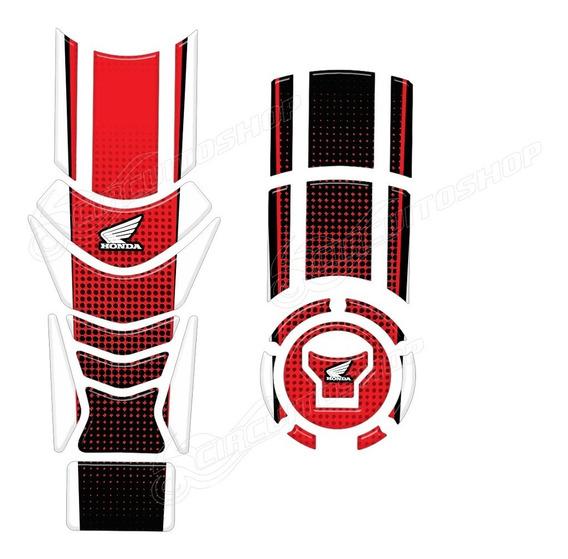 Protetor Faixa Tanque + Bocal M3 Moto Honda Cb 250 Twister