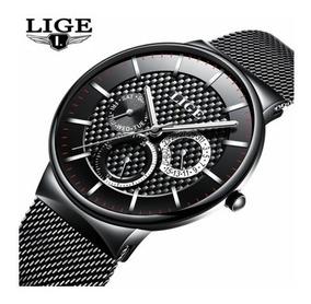 Relógio Masculino Lige 9836 Luxo Casual Social