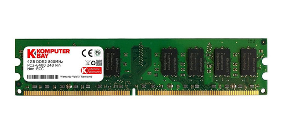 Memoria Ram 4gb Komputerbay Ddr2 Dimm (240 Pin) 800mhz Pc2 6400 Pc2 6300 4 Gb - Cl 5