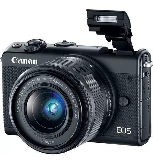 Câmera Canon Eos M100 Com Lente 15-45mm