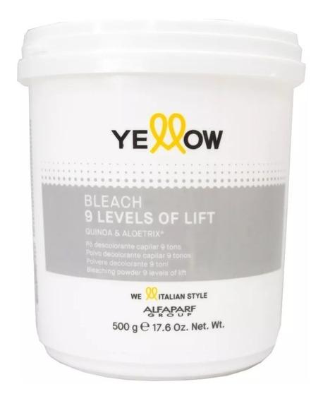 Decolorante Yellow Bleach 500 Gr Aclara 9 Tonos Alfaparf