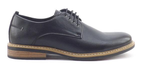 Zapatos Vestir Massimo Figaro Acordonado Cuero Hombre Nuevo