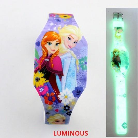 Relógio Infantil Elsa Frozen Disney Brilho - Exclusivo