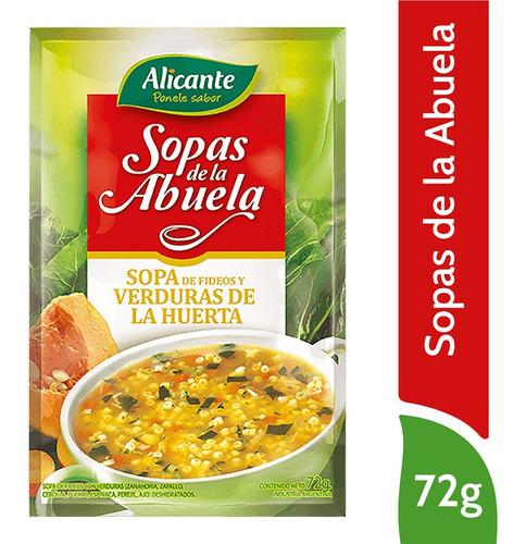 Alicante Sopas De La Abuela Fideos Y Verduras X 72 Gr