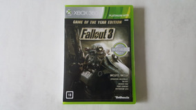 Fallout 3 Goty - Xbox 360 - Original - Mídia Física