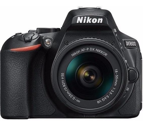 Nikon Dsrl D5600 24.2mp Wi-fi, Lente Af-p 18-55 Mm Vr