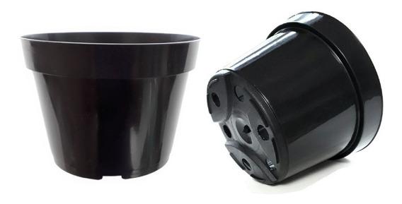 100 Vasos Plástico Pote 11 Preto 430ml Plantas Mudas Atacado
