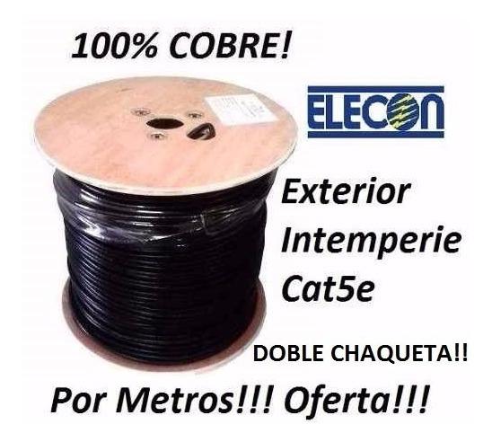 Cable Utp Cat5e Intemperie Doble Chaqueta Elecon 100 Mts