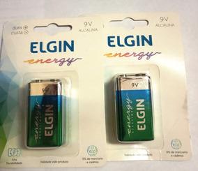 Embalagem 2 Unidades - Bateria Elgin 9 Volts Alcalina