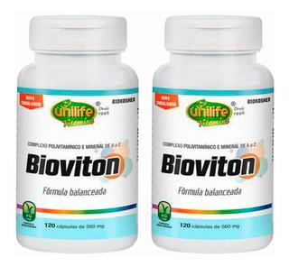 Multivitamínico Bioviton - 2x 120 Cápsulas - Unilife