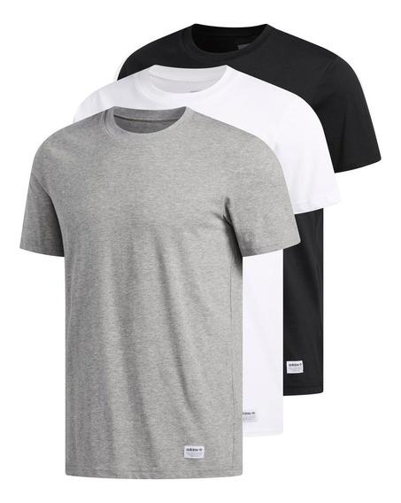 Remeras Pack New X 3 adidas Originals Tienda Oficial