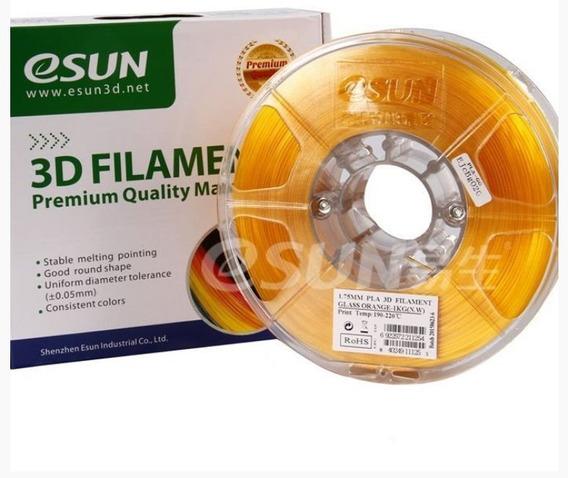 Filamento Pla + 1,75mm - Cores Transparentes - Esun 1kg