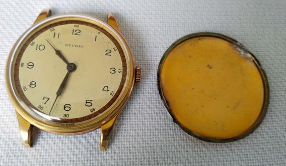 Antigo Relógio De Pulso Studio Restauro Raro Veja Fotos