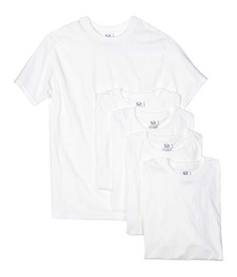 * Camiseta Playera Fruit Of The Loom Crew Neck 2xl Blanco #5