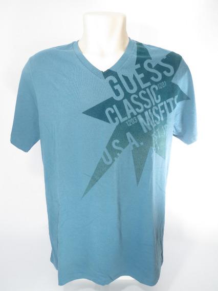 Camisa Guess Classic Masculina Original Azul