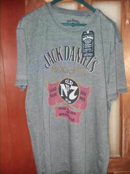 Camiseta Jack Daniels Hombre Tallas X - X L Producto Oficial