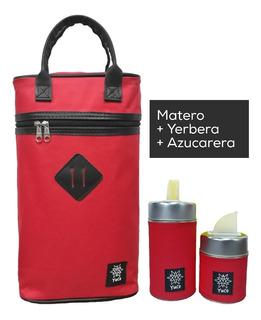 Equipo De Mate Set Matero | Bolso +yerbera +azucarera