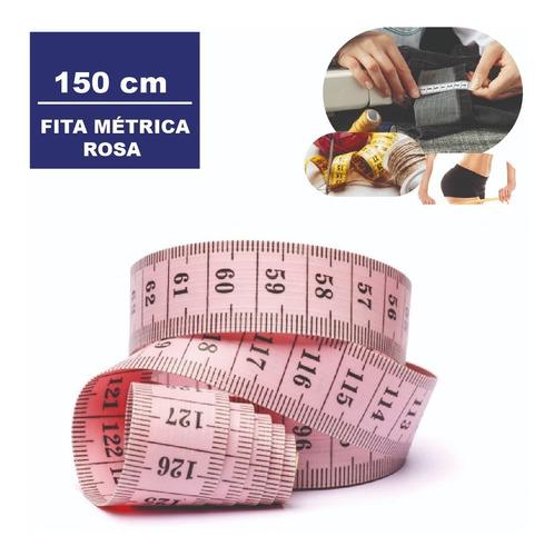 Imagem 1 de 7 de Fita Metrica Embalagem Plastica 150 Cm Cor:rosa