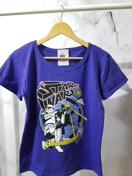 Remera Algodon Star Wars Mujer
