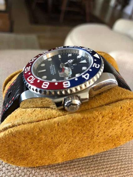 Relógio Rolex Gmt - Fundo Azul