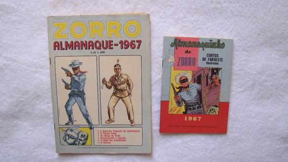 Zorro - Almanaque De 1967 Com Almanaquinho - Ebal