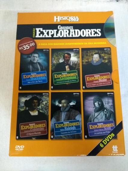 Box História Viva - Grandes Exploradores - 6 Dvds