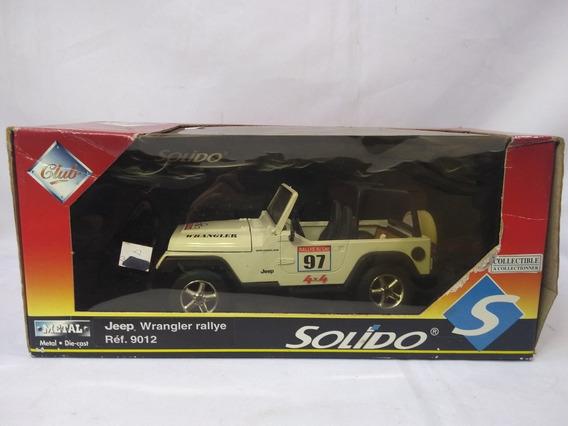 Jeep Wrangler Rallte Du Lac Miniatura Escala 1/18 Solido