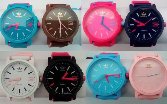 Kit 10 Relógios Color adidas Várias Cores Masc Fem + Brinde