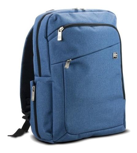 Bulto De Notebook 15.6  Klipx Tipo Mochila Azul