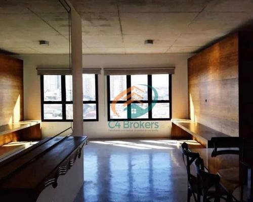 Imagem 1 de 21 de Apartamento Com 1 Dormitório À Venda, 75 M² Por R$ 590.000,00 - Anália Franco - São Paulo/sp - Ap2370