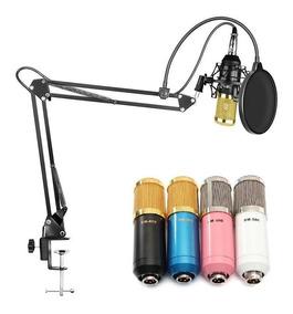 Kit Microfone Bm800 Pop Filter Aranha Braço Articulado