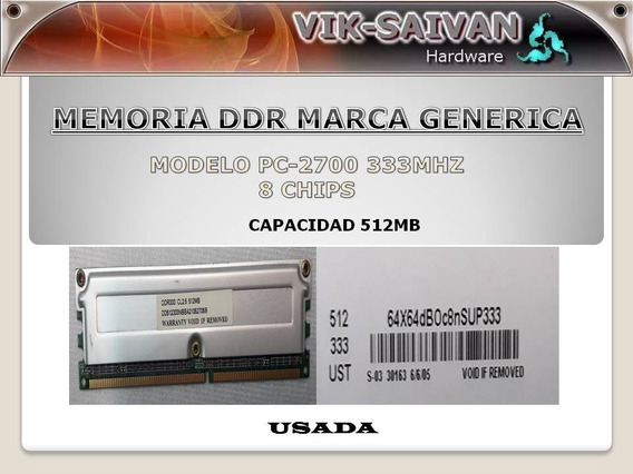 Memoria Ddr Generica 512mb Pc-2700 333mhz 8 Chips 2