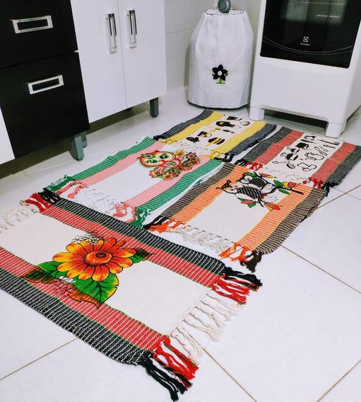 Kit Com 10 Tapete Grosso Reforçado Decoração Casa