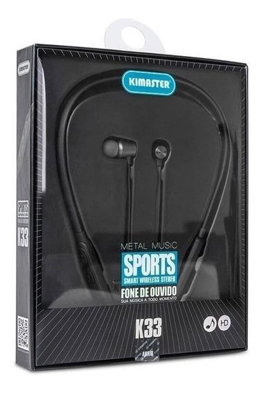 Fone De Ouvido Bluetooth Sport 6 Horas De Reprodução K33