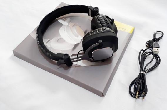 Fone Ouvido Via Bluetooth Stereo Fm Cartão Micro Sd A- 860