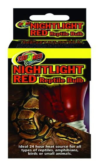 Zoomed Lâmpada Noturna Vermelha P/ Repteis 25w Nr-25 + Nota