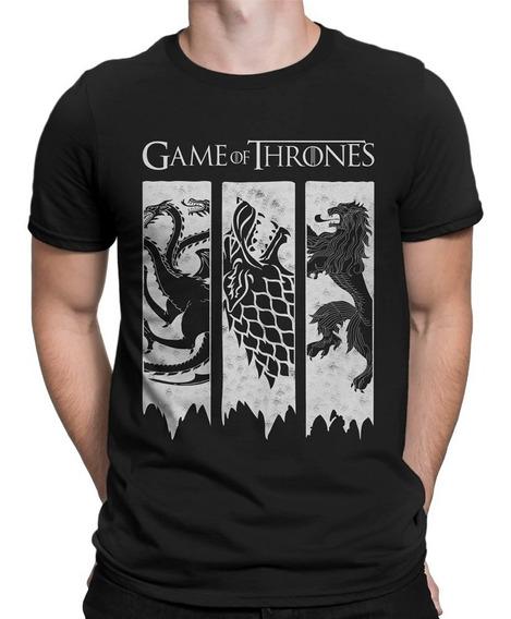 Camiseta Game Of Thrones Camisa Got Brasões 3 Casas