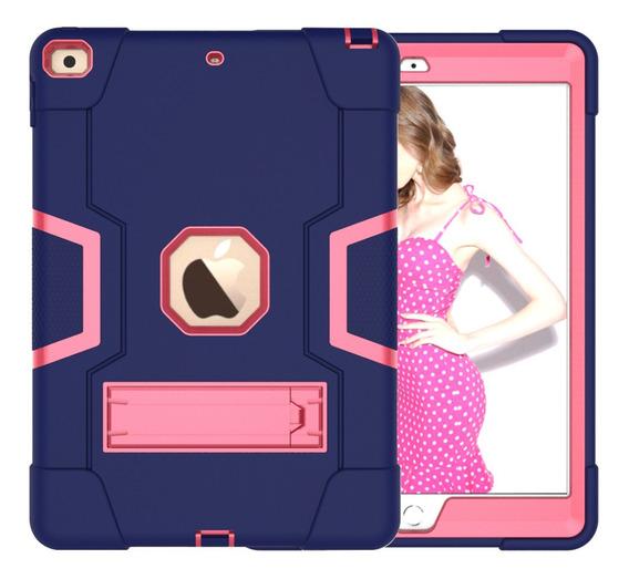 Para iPad Pro 10.2 Tablet Capa Marinha + Rosa