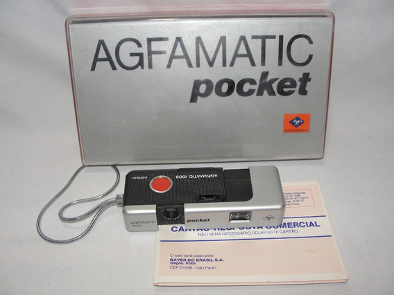 Antiga Camera Agfamatic Pocket 1008 Caixa Original