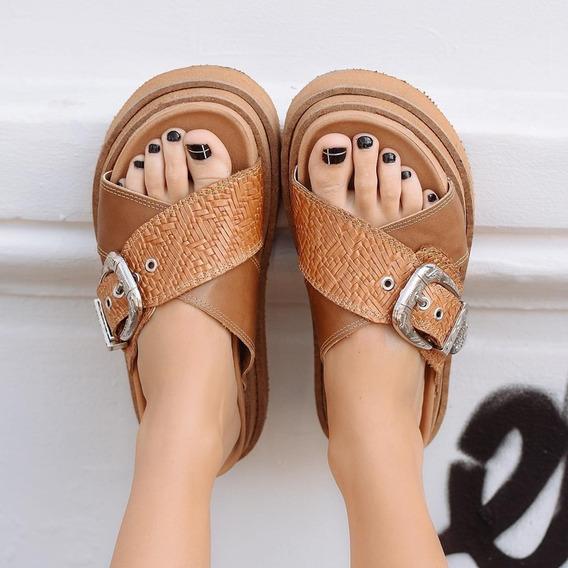 Zapatos Mujer Cuero Dama Sandalias Primavera-verano 19/20