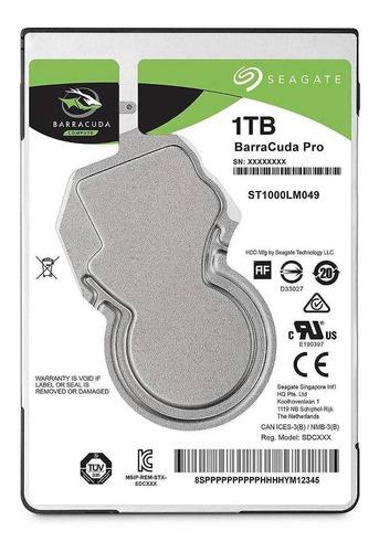 Imagen 1 de 3 de Disco duro interno Seagate Barracuda Pro ST1000LM049 1TB