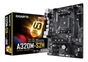 Placa Mãe Gigabyte A320m Proc Athlon 3.2ghz Memória Ddr4 4gb