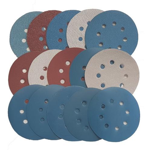 Kit Com Todas Os Discos De Lixa Para Lixadeira Roto Orbital